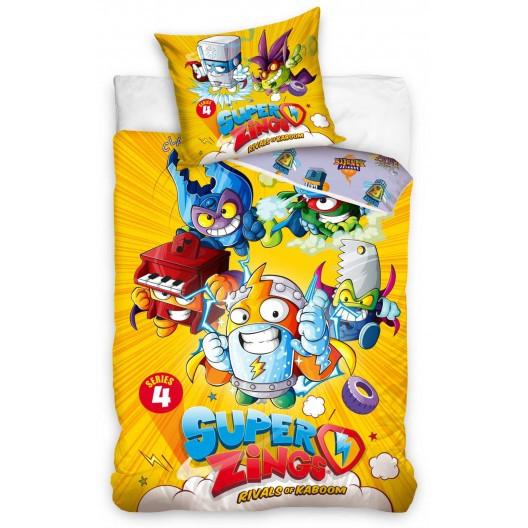 Žluté dětské pohádkové povlečení Super Zingst z bavlny