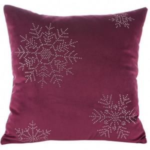 Vánoční povlak na polštář velvet vločky