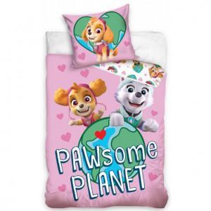 Růžové povlečení PAW PATROL pro děti