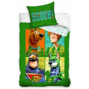 Zelené bavlněné povlečení s motivem Scooby Doo