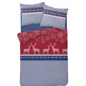 Kvalitní ložní povlečení na vánoce v červené barvě