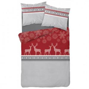 Kvalitní vánoční povlečení v červené barvě