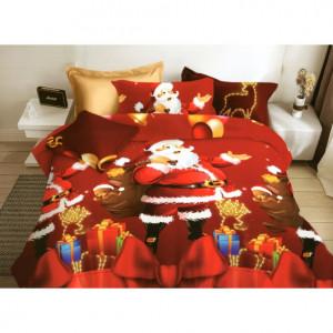 Vánoční povlečení na postel s Mikulášem