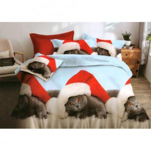 Povlečení s motivem vánočních koťat