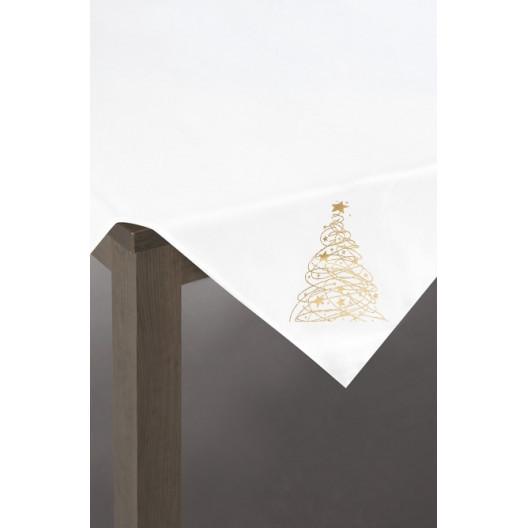 Elegantní vánoční ubrus se zlatým stromečkem