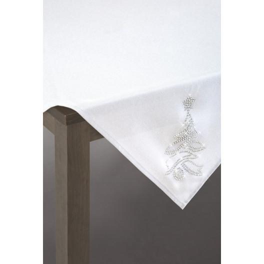 Decentní vánoční ubrus s motivem stromečku