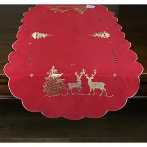 Vánoční prostírání červené barvy
