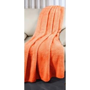 Přehoz přes gauč oranžové barvy