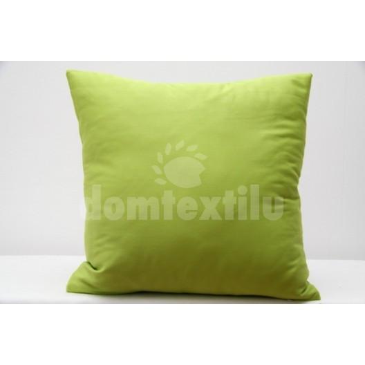 Bledě zelená dekorační povlak na polštáře