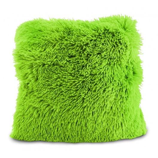 Zelená chlupatá povlak na polštář