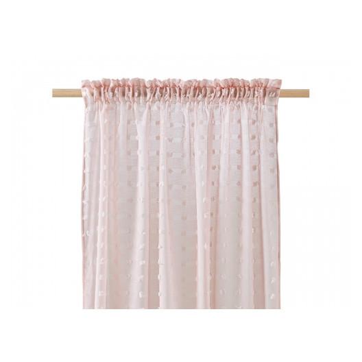 Jemná záclona na okno v pudrové barvě