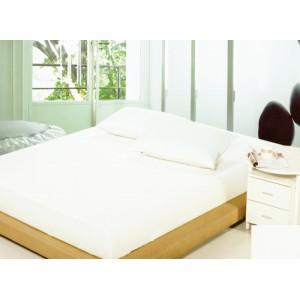 Bavlněné prostěradla na postele bílé barvy