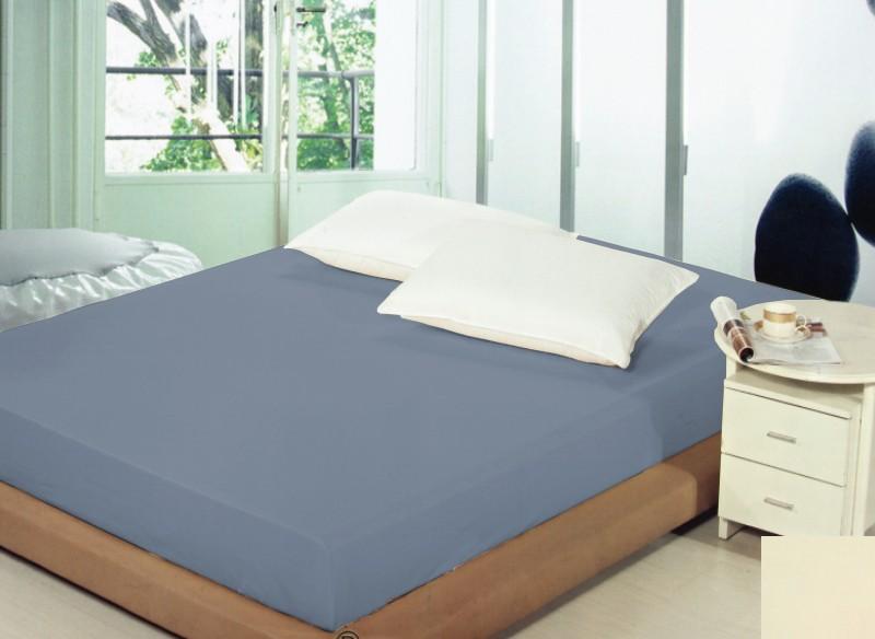 Bavlněné tmavomodré prostěradla na postel