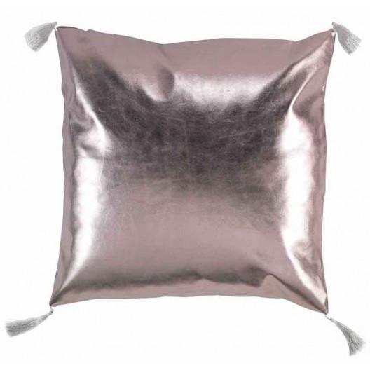 Zlato růžový polštář 40 x 40 cm