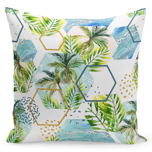 Krásná barevná povlak na polštář s palmou