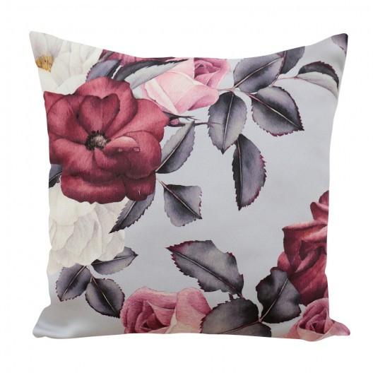 Dekorativní povlak na polštář s motivem růží