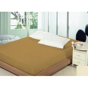 Plachta na postel 140x200 hnědé barvy