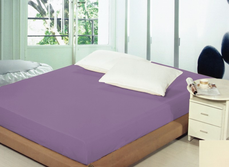 Prostěradla fialové barvy s gumou