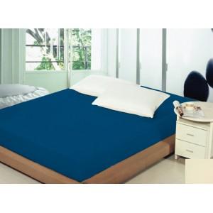 Královsky modré prostěradlo na postel