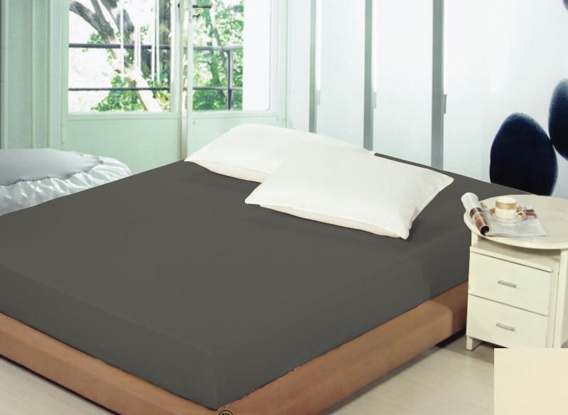 Bavlněné prostěradla na postele tmavě šedé barvy