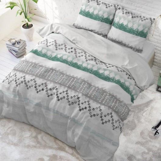 Kvalitní bavlněné ložní povlečení v šedé barvě 200 x 220 cm