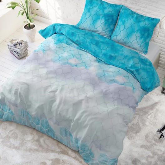 Elegantní modré povlečení z bavlny 200 x 220 cm
