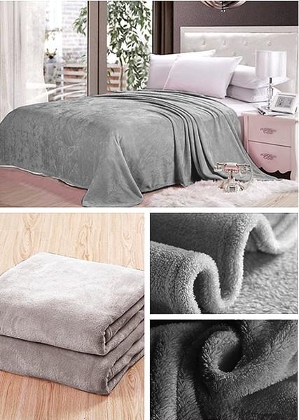 Deky tmavě šedé barvy na postel pro děti