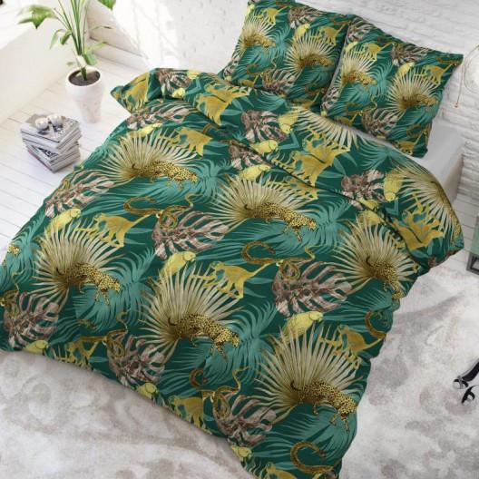 Exotické povlečení zelené barvy 200 x 220 cm