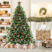 Vánoční jedle s bílými konci větviček