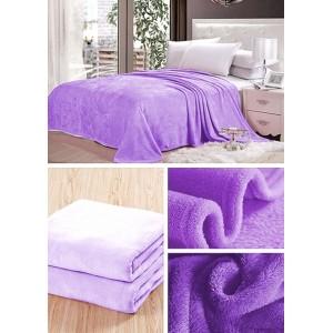 Světle fialová deka do obývacího pokoje