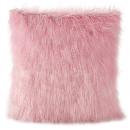 Chlupatá povlak růžové barvy