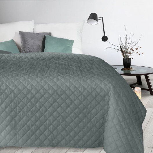 Moderní tmavě šedý prošívaný přehoz na postel