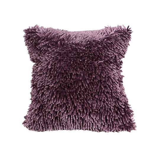Třásňová povlak na polštář tmavě fialové barvy