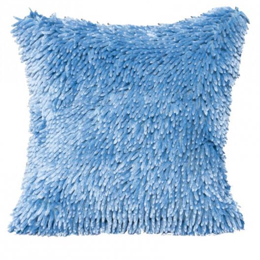 Třásňová povlak na polštář bleděmodré barvy
