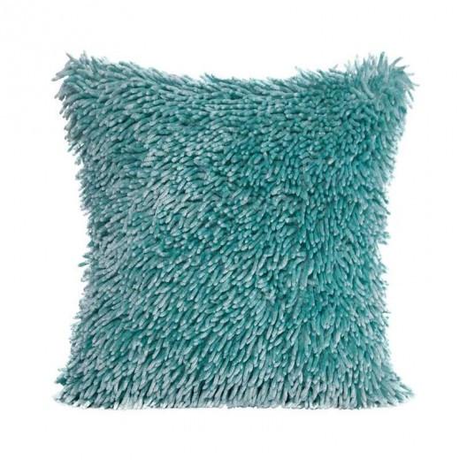 Třásňová povlak na polštář mátově zelené barvy
