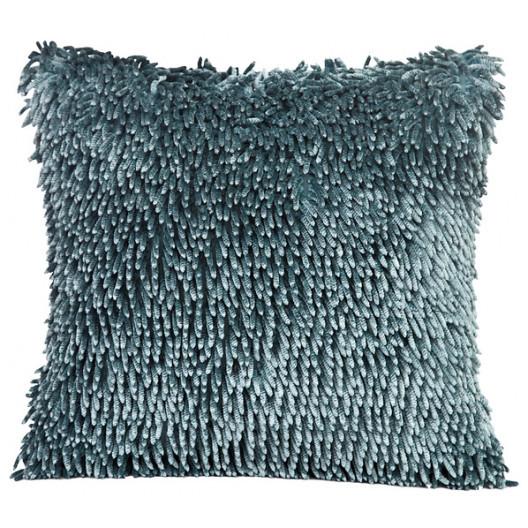 Třásňová na polštář tyrkysově šedé barvy