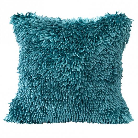 Třásňová povlak na polštář tyrkysové barvy