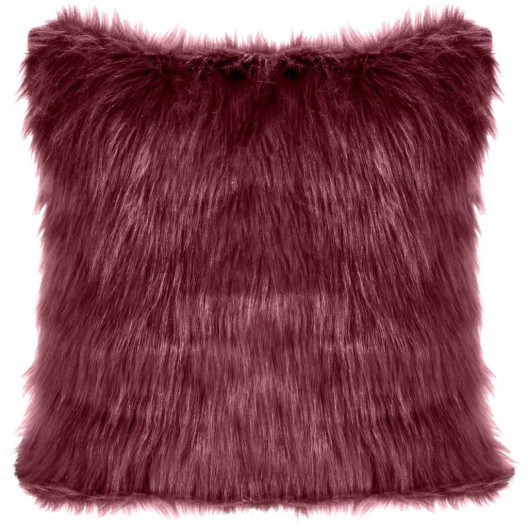 Chlupatá povlak bordovo fialové barvy