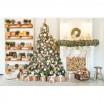 Vánoční stromek v zelené barvě borovice