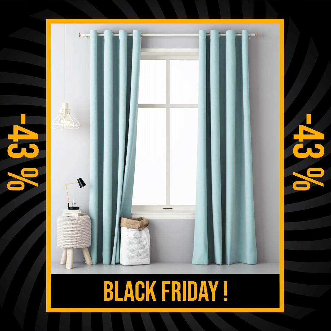 Luxusní závěs mentolové barvy 140 x 250 cm Black Friday