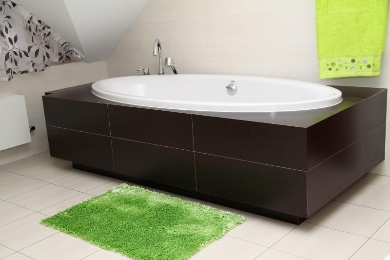 Zelená koupelnová předložka