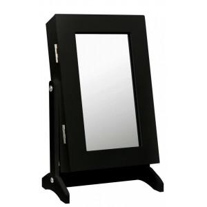 Malé zrcadlo na stůl v černé barvě