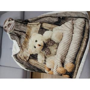 Kvalitní dětská deka do kočárku s medvídkem