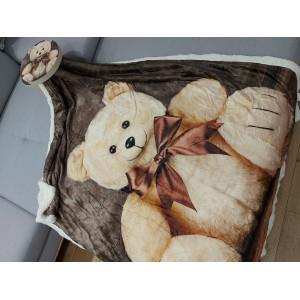 Zateplená dětská deka s medvidíkom v dárkové krabičce