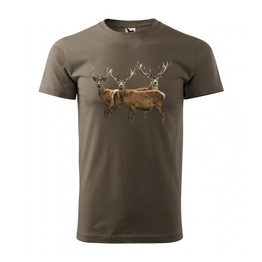 Kvalitní bavlněné tričko s potiskem pro vášnivého myslivce