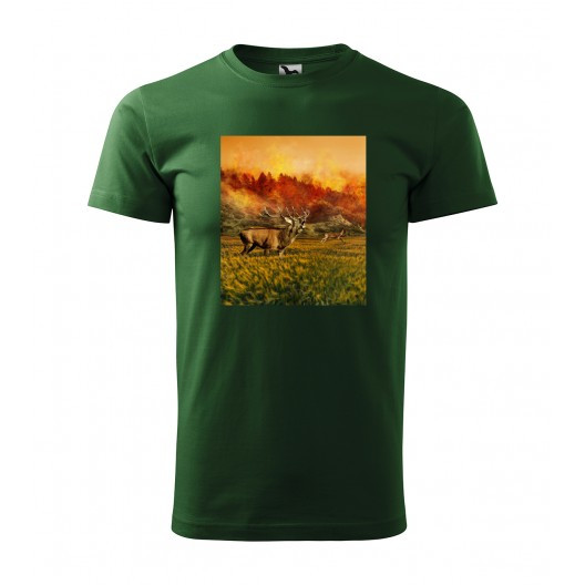 Krásné bavlněné pánské tričko pro vášnivého myslivce s top potiskem