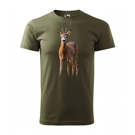 Lovecké tričko s motivem srnce