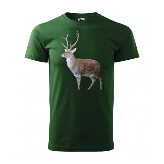 Pánské bavlněné tričko s potiskem pro vášnivého myslivce