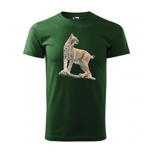 Originální lovecké tričko s motivem rys ostrovid