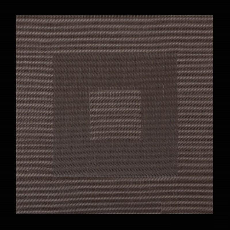 Moderní čtvercové prostírání v hnědé barvě na stůl